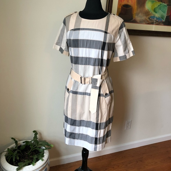 279cb187345 Burberry Dresses   Skirts - 🆕 Listing!! Burberry Brit Belted Check Dress